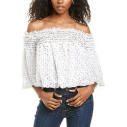 Max Studio Off-The-Shoulder Blouse (16), Women's, White(polyester) found on Bargain Bro Philippines from Overstock for $43.99