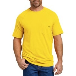 Dickies Men's Cooling Temp-Iq® Performance Short Sleeve T-Shirt - Bright Yellow Size XL (SS600) found on Bargain Bro India from Dickies.com for $16.99