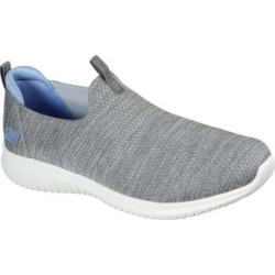 Skechers Women's Sneakers GYBL - Gray & Blue Ultra Flex Gracious Touch Slip-On Sneaker found on Bargain Bro India from zulily.com for $54.99