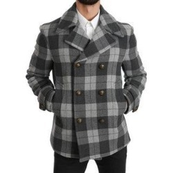 Dolce & Gabbana Gray Check Wool Cashmere Coat Men's Jacket (it50-l) found on Bargain Bro India from Overstock for $714.00