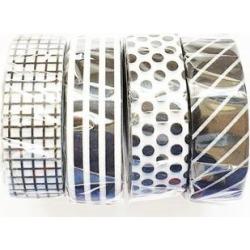 MT masking tape - Set Of 4 Black And White Washi Masking Tapes