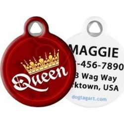 Dog Tag Art Classy Queen Personalized Dog & Cat ID Tag, Large