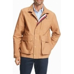 Tommy Hilfiger Mens Jacket Brown Size Large L Safari Water-Resistant (L), Men's(polyester) found on Bargain Bro Philippines from Overstock for $119.98