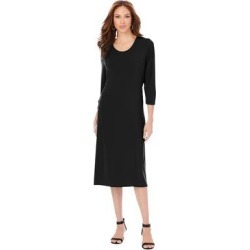 Plus Size Women's Ultrasmooth Fabric Infinity Scarf Dress by Roaman's in Black (Size 16 W) found on Bargain Bro Philippines from fullbeauty for $79.99
