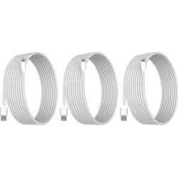 Tech Zebra Lightning Cables White - White 10' Lightning Charging Cable - Set Of Three found on Bargain Bro from zulily.com for USD $11.39