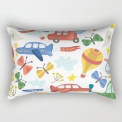 Rectangular Pillow   Kids Air Transportation by Peppermintcreek - Small (17