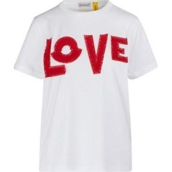 2 Moncler 1952 - Love T-shirt - White - Moncler Genius Tops found on Bargain Bro Philippines from lyst.com for $364.00