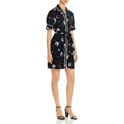 Kate Spade Womens Deco Bloom Shirtdress Floral Print Contrast Trim - Black found on MODAPINS from Overstock for USD $102.64