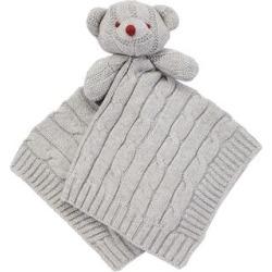 Baby Mode Lovey Blankets GREY - Gray Bear Security Blanket
