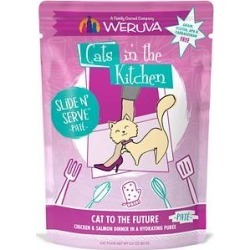 Weruva Cats in the Kitchen Cat to The Future with Chicken & Salmon Grain-Free Cat Food Pouches, 3-oz pouch, case of 12