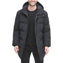DKNY Mens Jacket Black Size Medium M Quilted Zip Front Hooded Puffer (M), Men's(polyester) found on Bargain Bro Philippines from Overstock for $129.99