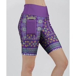 Lily Women's Casual Shorts PRP - Purple & Yellow Medallion Pocket Bike Shorts - Women & Plus found on Bargain Bro Philippines from zulily.com for $14.99