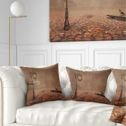 Designart 'Behind Old Time Landscape' Photography Throw Pillow (Square - 16 in. x 16 in. - Small), Brown, DESIGN ART(Polyester, Nature) found on Bargain Bro from Overstock for USD $24.62