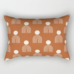 Rectangular Pillow | Full Moon Rainbow Pattern Collection Ss02 by Grace - Small (17