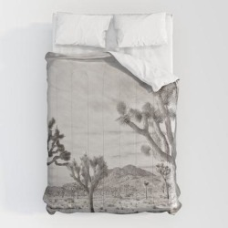 Comforters | Joshua Tree Grey By Creyes by Artfx - Carlos Reyes - Queen: 88