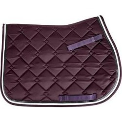 Equine Couture Satin Dressage Saddle Pad, Plum found on Bargain Bro India from Chewy.com for $46.95
