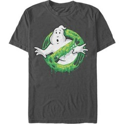 Fifth Sun Men's Tee Shirts CHARCOAL - Ghostbusters Charcoal Logo Slime Tee - Men