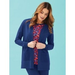 Women's Ribbed Active Jacket, Bright Navy Blue M Misses found on Bargain Bro India from Blair.com for $24.99