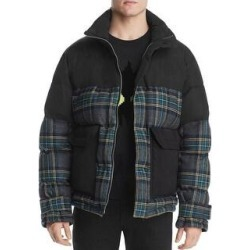 McQ Alexander McQueen Mens Oversized Plaid Puffer Jacket Large (IT 52) Black (L), Men's found on Bargain Bro India from Overstock for $376.05