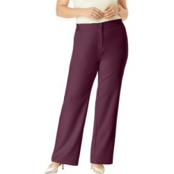 Plus Size Women's Tummy Control Bi-Stretch Bootcut Pant by Jessica London in Dark Berry (Size 28 W) found on Bargain Bro Philippines from Ellos for $44.99