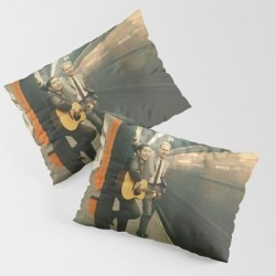 Pillow Sham | Simon And Garfunkel - Wednesday Morning, 3am - by Tigalaili - STANDARD SET OF 2 - Cotton - Society6 found on Bargain Bro from Society6 for USD $30.39