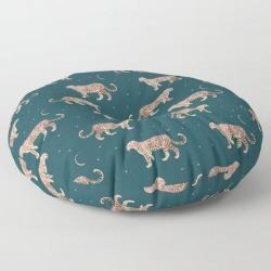 Floor Pillow | Rose Leopard by Grace - ROUND - 30