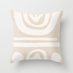 Elsewhere - light Palette Couch Throw Pillow by Urban Wild Studio Supply - Cover (16