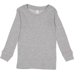 Rabbit Skins 201Z Toddler Long-Sleeve Pajama Top in Heather size 4 | Cotton found on Bargain Bro from ShirtSpace for USD $4.43