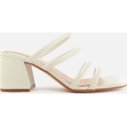 Sheer65 Leather Heeled Mules - White - Clarks Heels found on Bargain Bro from lyst.com for USD $81.32