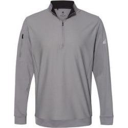 Adidas Men's Performance Quarter Zip Pullover, Assorted Colors (2X-Large - Grey Three), Gray(jersey, Solid) found on Bargain Bro Philippines from Overstock for $81.99