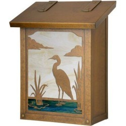 America's Finest Lighting Company Heron Wall Mounted MailboxBrass in Yellow, Size 12.25 H x 9.5 W x 5.63 D in   Wayfair AF-601-WB-CH found on Bargain Bro Philippines from Wayfair for $229.99