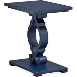 Wood Chairside End Table - Weathered Navy KD (Wood), Blue