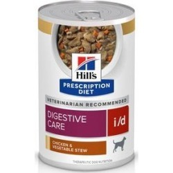 Hill's Prescription Diet i/d Gastrointestinal Chicken & Vegetable Canned Dog Food, 12.5-oz, 12 ct found on Bargain Bro India from Chewy.com for $43.99