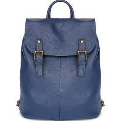 Giorgio Costa Women's Backpacks BLUE - Blue Buckle Leather Backpack found on Bargain Bro India from zulily.com for $89.99