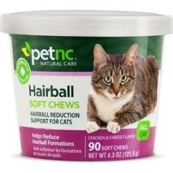 PetNC Natural Care Hairball Reduction Cat Soft Chews, 90 count found on Bargain Bro India from Chewy.com for $6.80