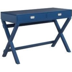 Poppy Writing Desk (Navy), Blue, Linon found on Bargain Bro Philippines from Overstock for $164.89