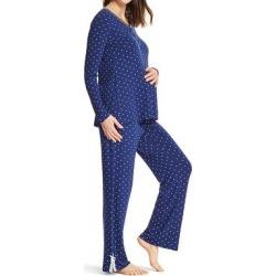 Lamaze Maternity Intimates Women's Sleep Bottoms navy - Navy Polka Dot Pajama Set found on Bargain Bro India from zulily.com for $21.99