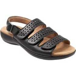 Extra Wide Width Women's Trinity Sandals by Trotters in Black (Size 8 1/2 WW) found on Bargain Bro Philippines from Roamans.com for $99.99