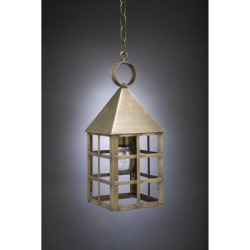Northeast Lantern York 16 Inch Tall 1 Light Outdoor Hanging Lantern - 7132-AC-MED-CLR