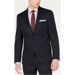 DKNY Mens Navy Single Breasted, Striped Wool Blend Jacket 40S (Navy - 40S), Men's, Blue found on Bargain Bro Philippines from Overstock for $51.28