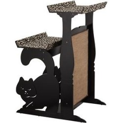 Staart Double Perch Faux-Fur 39.75-in Cat Tree found on Bargain Bro from Chewy.com for USD $107.57