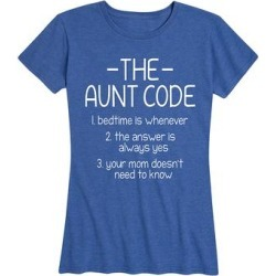 Instant Message Women's Women's Tee Shirts HEATHER - Heather Royal Blue 'The Aunt Code' Relaxed-Fit Tee - Women & Plus found on Bargain Bro India from zulily.com for $14.99