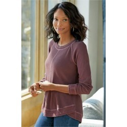 Women Darby Pullover Top by Soft Surroundings, in Vermillion Purple size 1X (18-20)