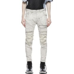 Grey Denim Distressed Stretch Jeans - Gray - Julius Jeans found on MODAPINS from lyst.com for USD $920.00