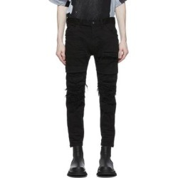 Black Denim Distressed Stretch Jeans - Black - Julius Jeans found on MODAPINS from lyst.com for USD $775.00