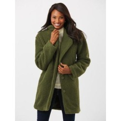 Haband Women's Long Berber Fleece Jacket, Olive Green, Size Womens found on Bargain Bro Philippines from Haband for $36.99