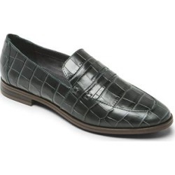 Rockport Women's Loafers Perpetua - Hunter Green Croc-Embossed Perpetua Penny Loafer - Women found on Bargain Bro India from zulily.com for $29.99
