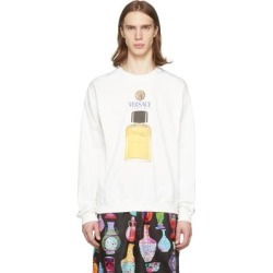 Off-white Perfume Sweatshirt - White - Versace Knitwear found on Bargain Bro from lyst.com for USD $589.00