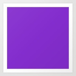 Solid Dark Purple Violet Color Art Print by Podartist - X-Small found on Bargain Bro India from Society6 for $15.19
