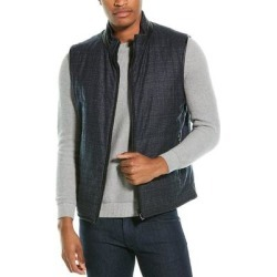 Corneliani Leather-Trimmed Wool Puffer Vest (50), Men's, Gray found on MODAPINS from Overstock for USD $379.49